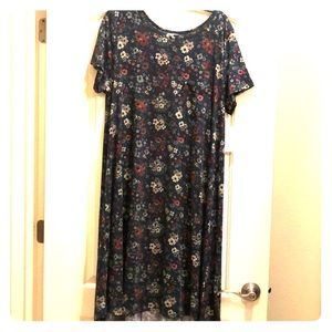 Floral LulaRoe midi Carly dress